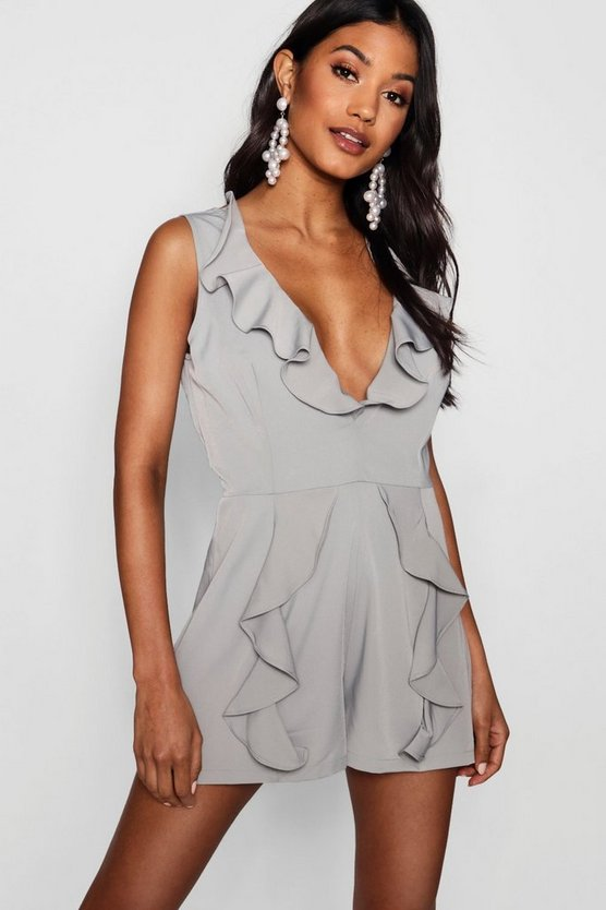 Amy Ruffle Tailored Playsuit