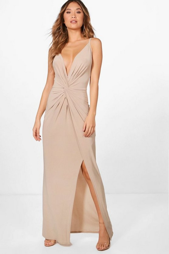 Stappy Knot Detail Maxi Dress