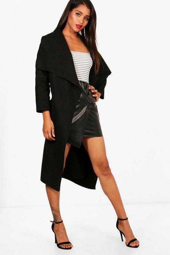 Luna Belted Waterfall Coat