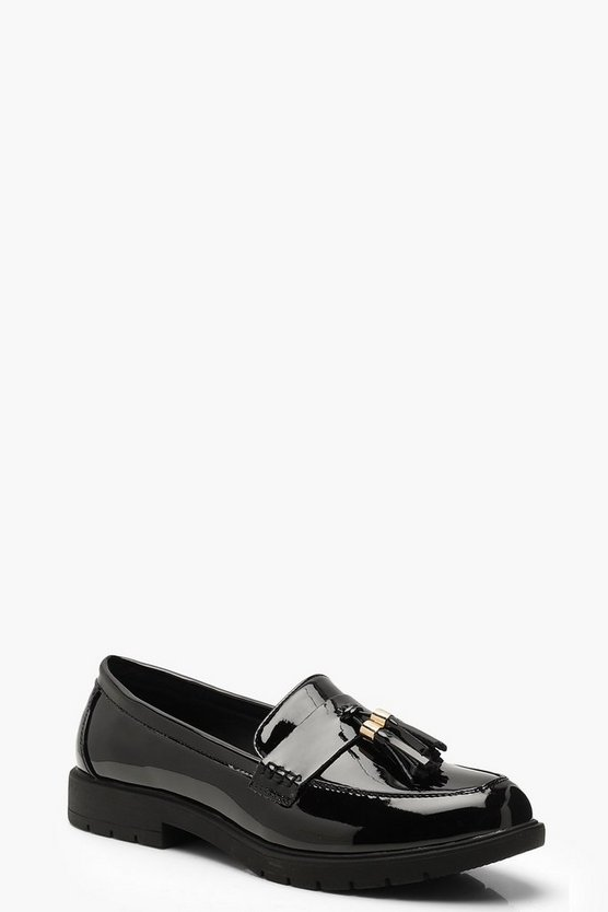 Tassel Trim Cleated Loafers