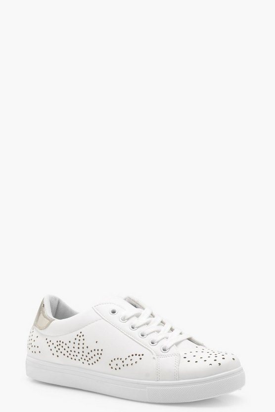 Ella Pattern Lazer Cut Trainers