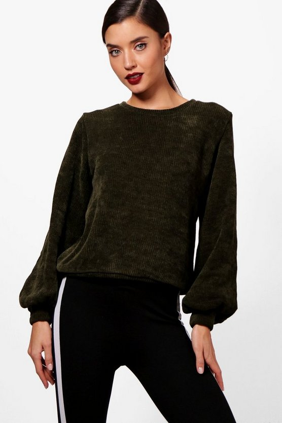 Sasha Balloon Sleeve Chenille Jumper
