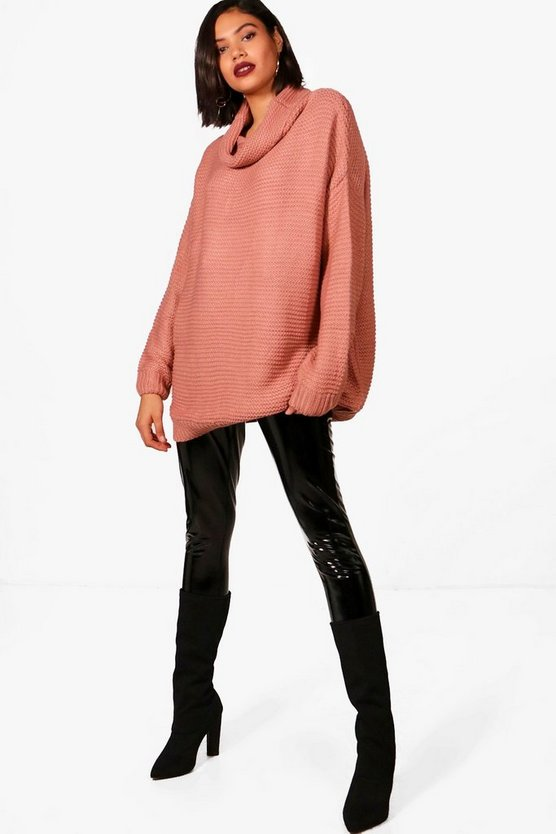 Harriet Oversized Chunky Knit Roll Neck Jumper