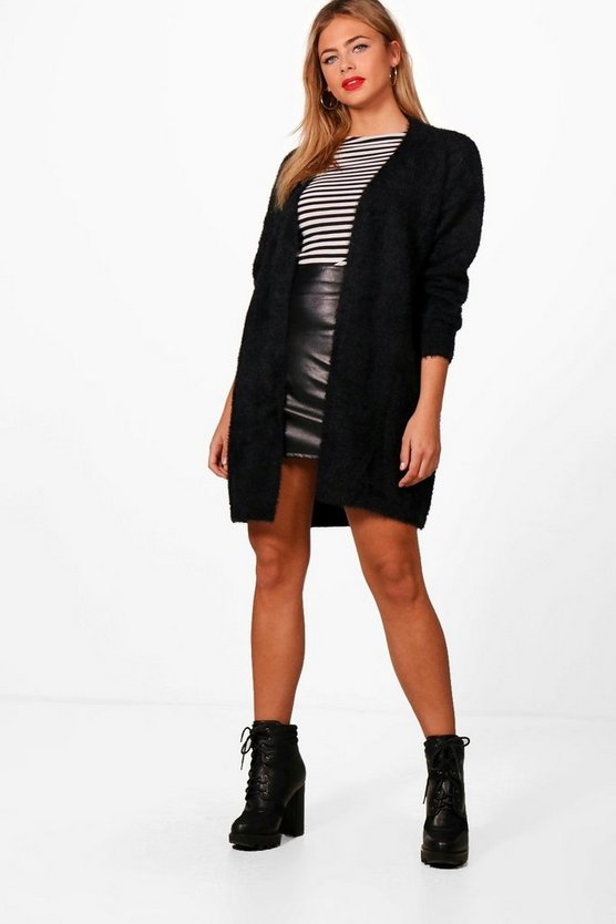 Aimee Fluffy Knit Oversized Cardigan