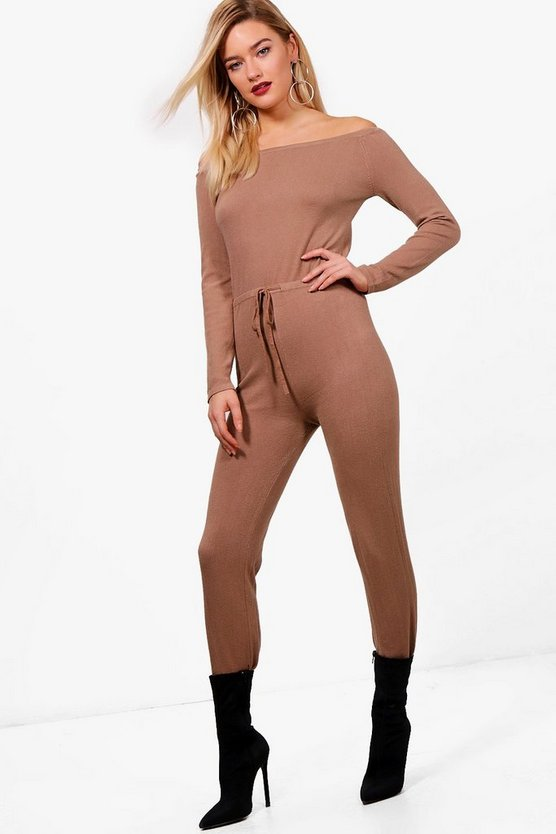 Jade Soft Knit Bardot Jumpsuit