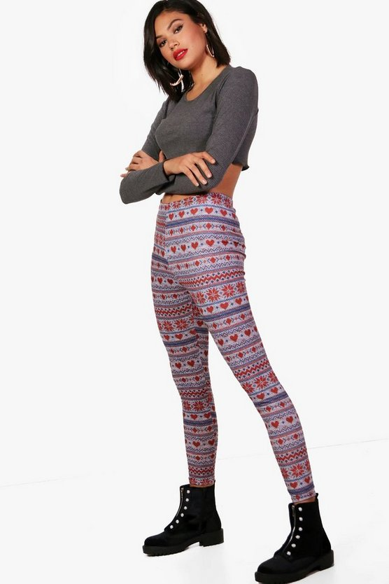 Kyla Fairisle Print Leggings