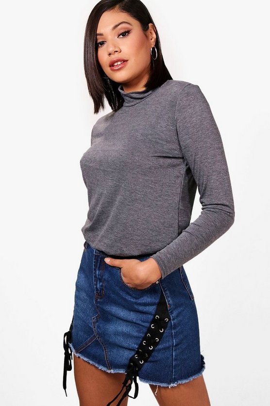 Roll Neck Slouchy Top