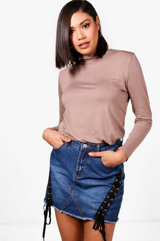 Emily Roll Neck Slouchy Top