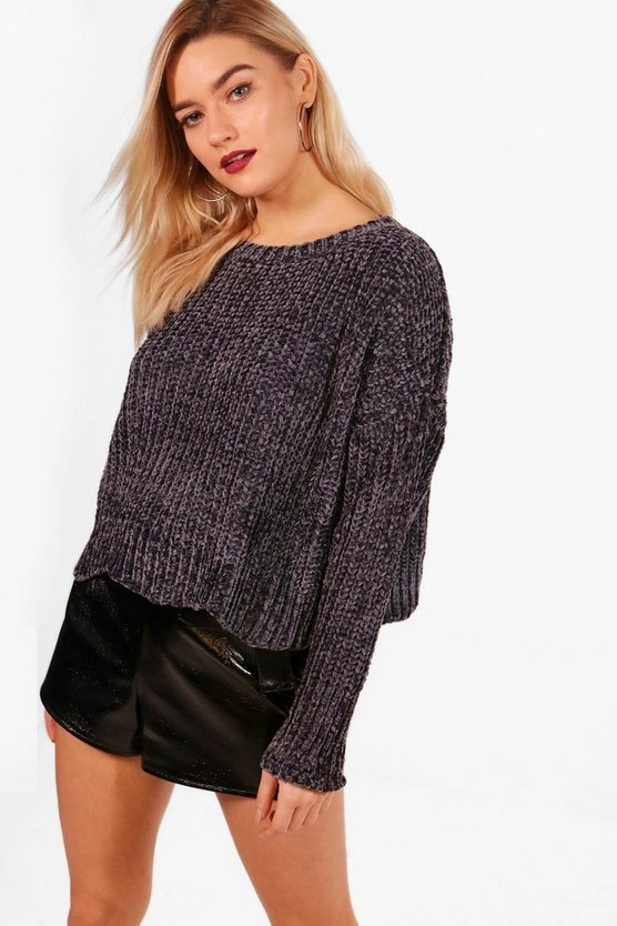 Oversized Drop Arm Chenille Jumper