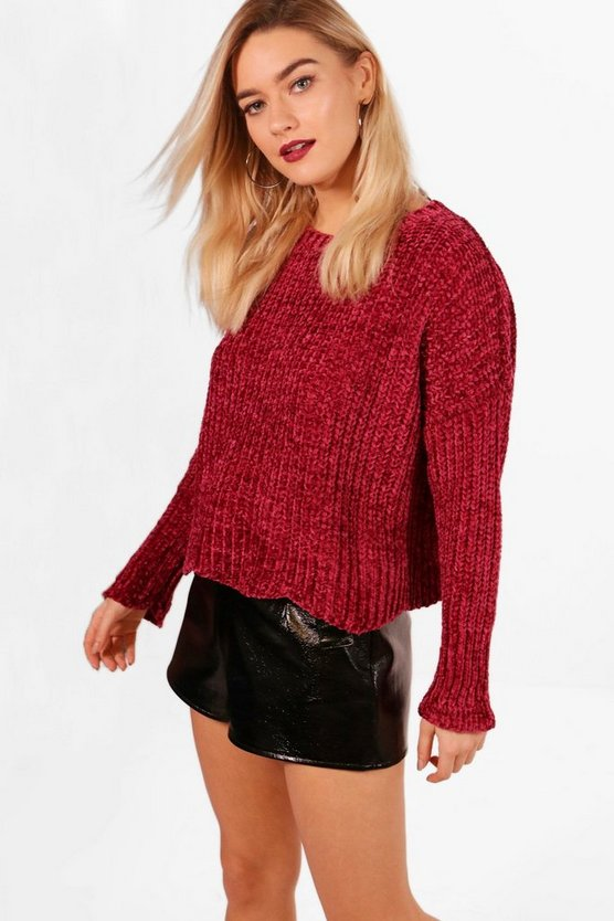 Sia Oversized Drop Arm Chenille Jumper