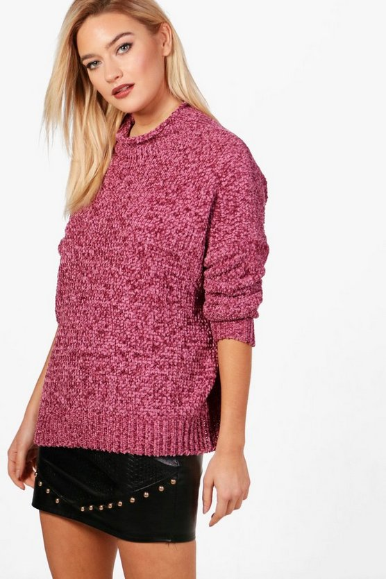 Anna Pullover in Chenille-Optik