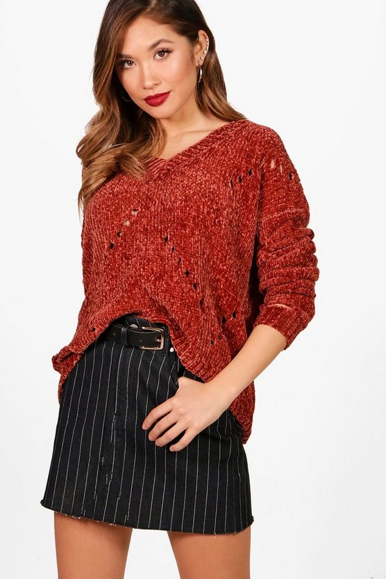 Sian Cropped Chenille Jumper