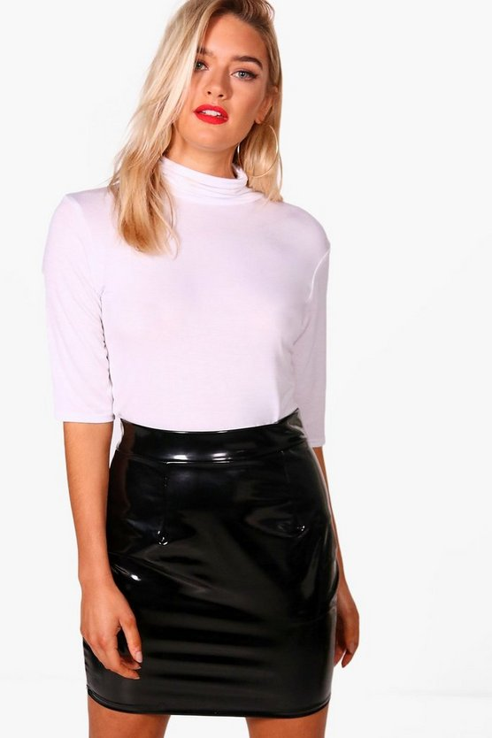 Basic Amilie 3/4 Sleeve Roll Neck