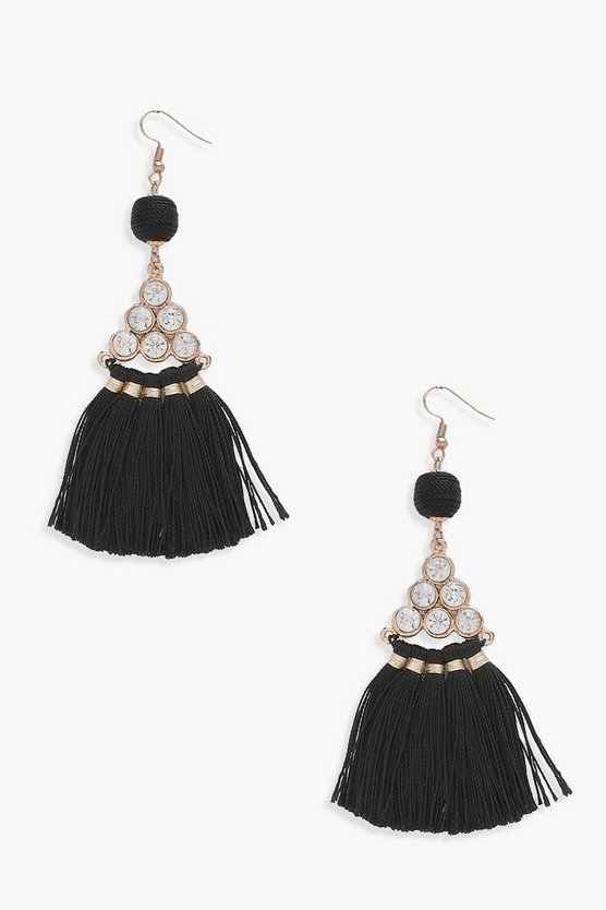 Mia Diamante Fan Tassel earrings