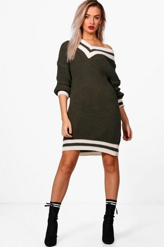 Shay Oversized Cricket Knit Jumper Dress