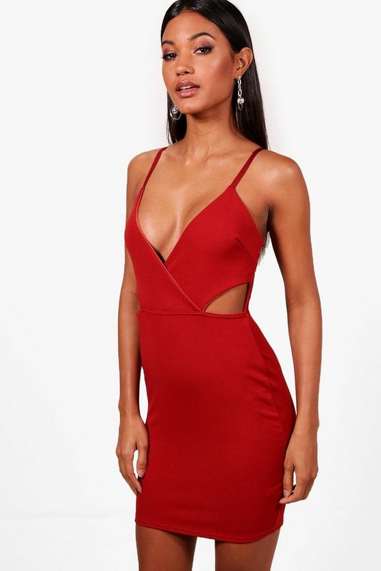Tasha Strappy Cut Out Side Bodycon Dress