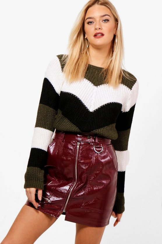 Maisy Stripe Knitted Jumper