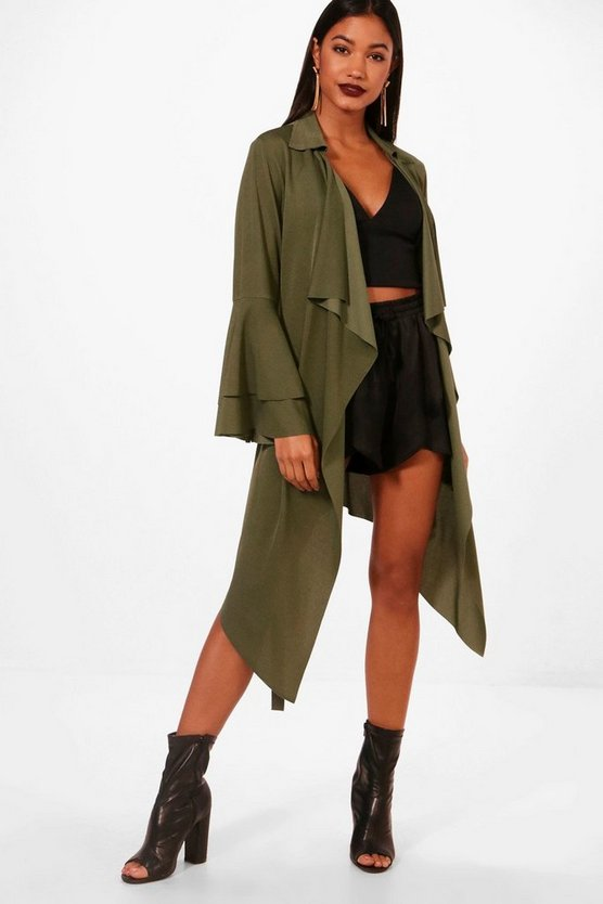 Poppy Flared Sleeve Waterfall Jacket