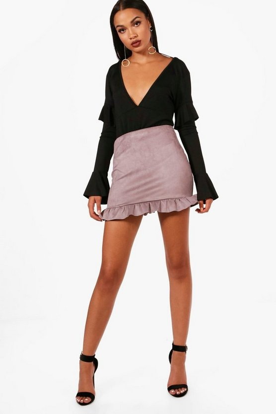 Stephanie Crepe Frill Hem Skirt
