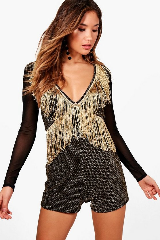 Tassel Trim Statement Playsuit
