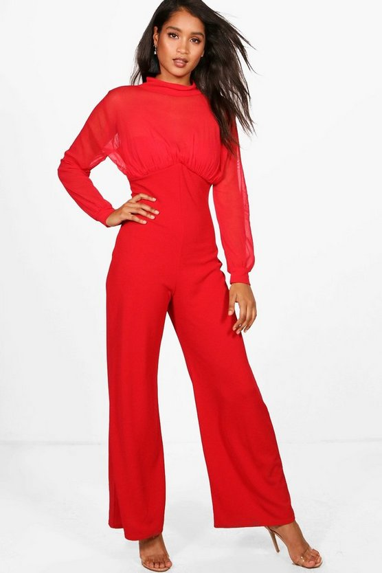 Cassie High Neck Wide Leg Jumpsuit