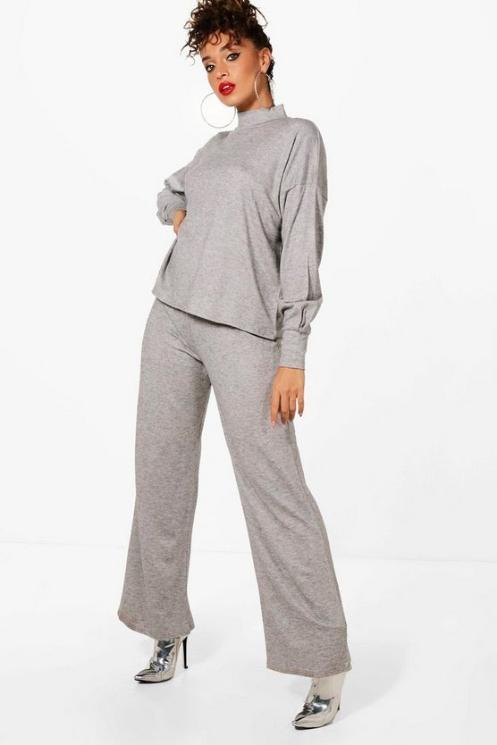 Dana Soft Knit Turtle Neck Lounge Set