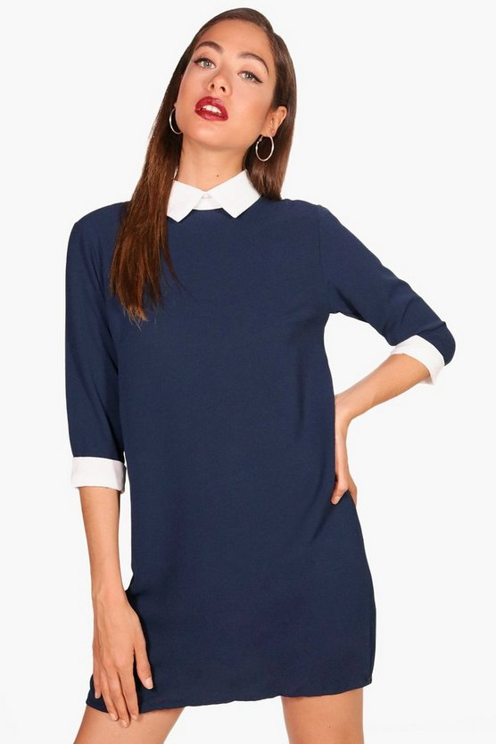 Frankie Shirt Collar Shift Dress