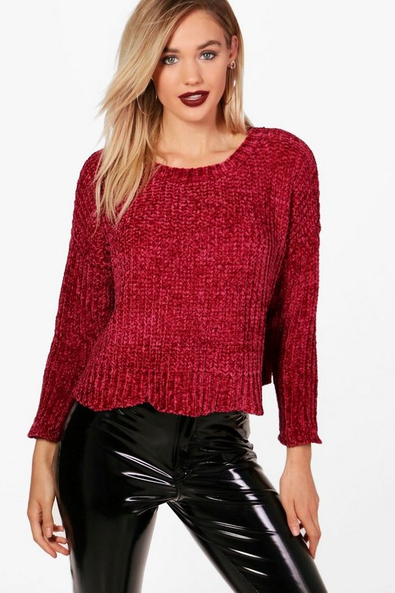 Zoe Drop Arm Chenille Jumper