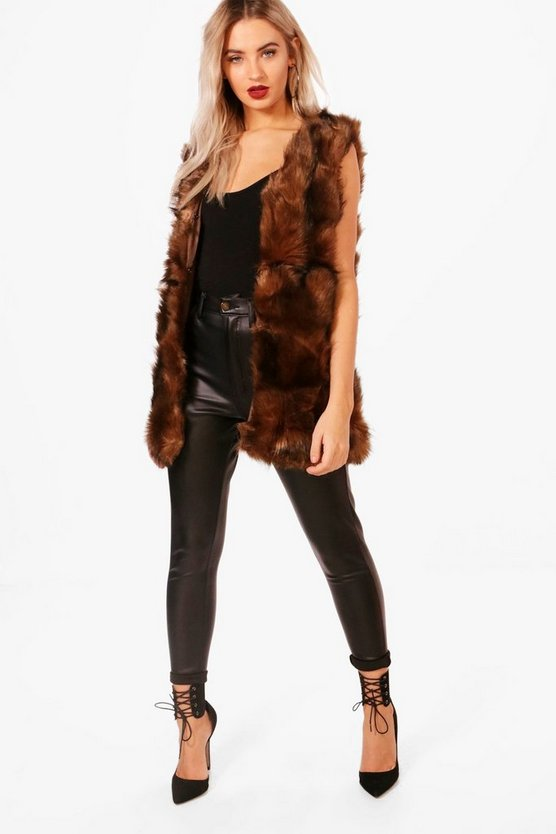 Una Boutique Faux Fur Gilet
