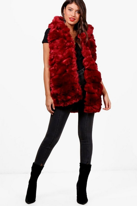 Nancy Boutique Faux Fur Gilet