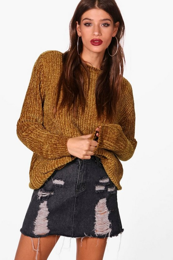 Sophia Oversized Slash Neck Jumper