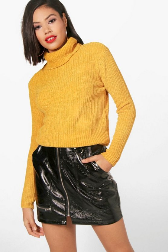 Evie Cowl Neck Chenille Jumper