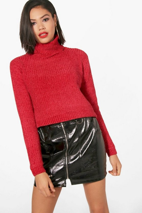 Cowl Neck Chenille Jumper