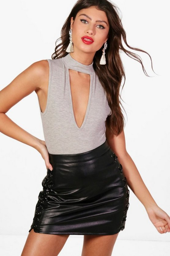 Avery Basic Choker High Rise Bodysuit