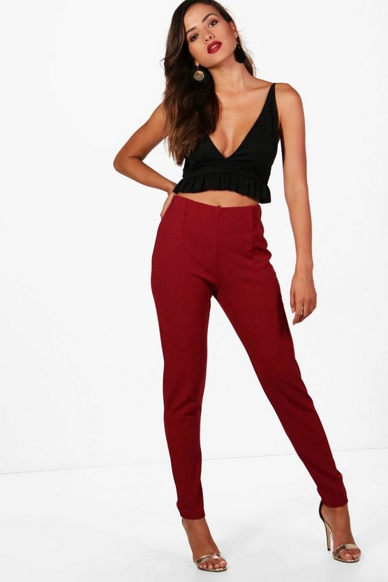 Pantaloni Skinny con cuciture Louise frontale