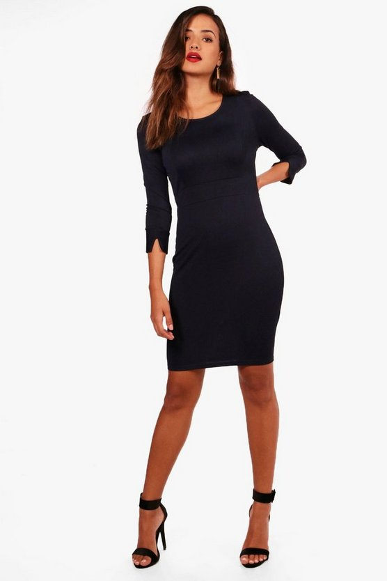 3/4 Sleeve Tailored Dress