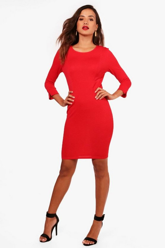 Joy 3/4 Sleeve Tailored Dress