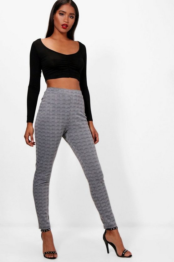Layla Check Skinny Trouser