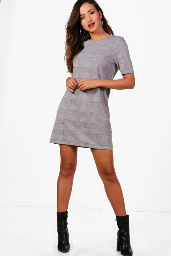 Honor Check Shift Dress