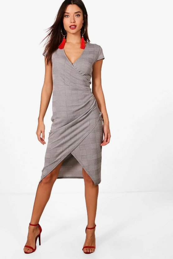 Rosie Check Wrap Dress