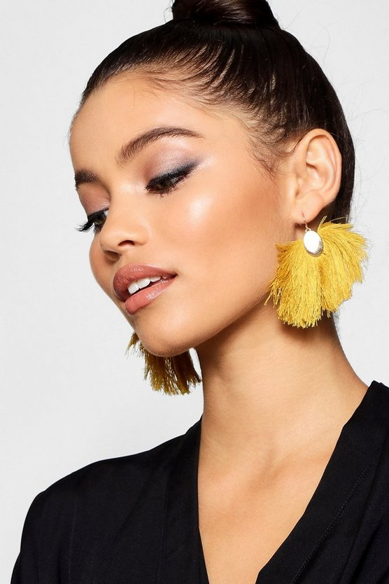 Nicole Fringed Tassel Earrings