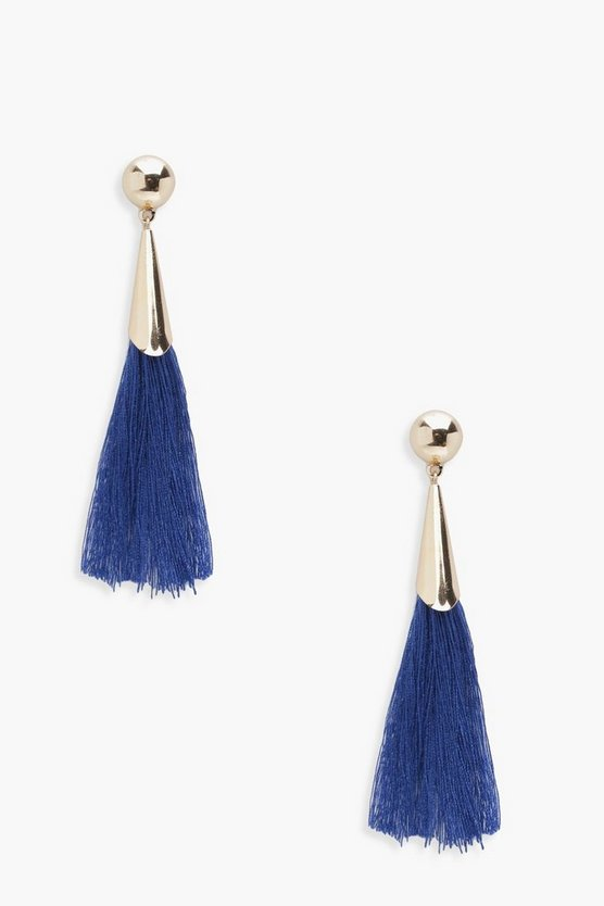 Fran Simple Tassel Earrings