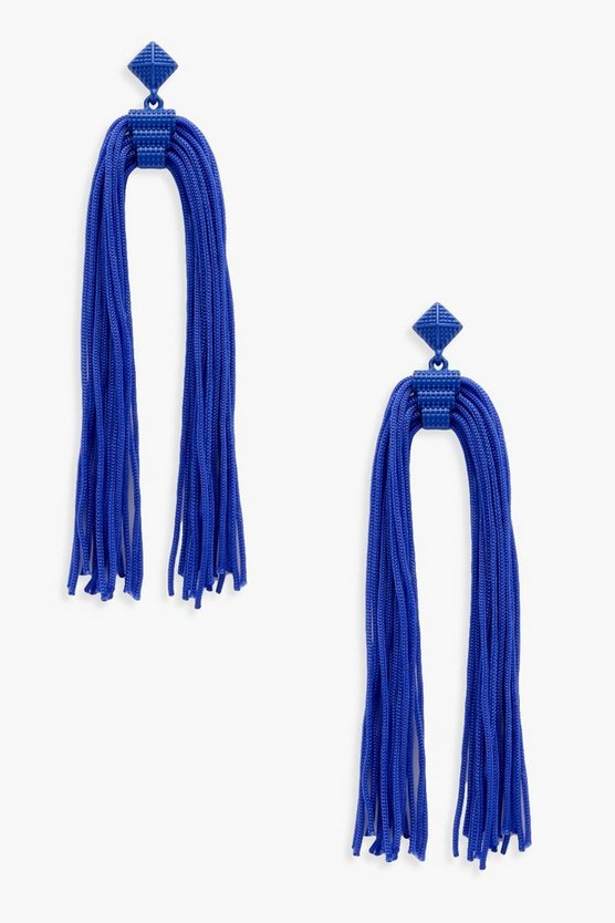 Lisa Long Tassel Statement Earrings