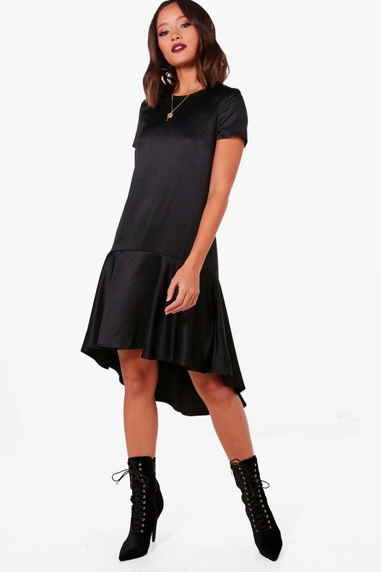 Victoria Drop Hem Oversized Smock Dress