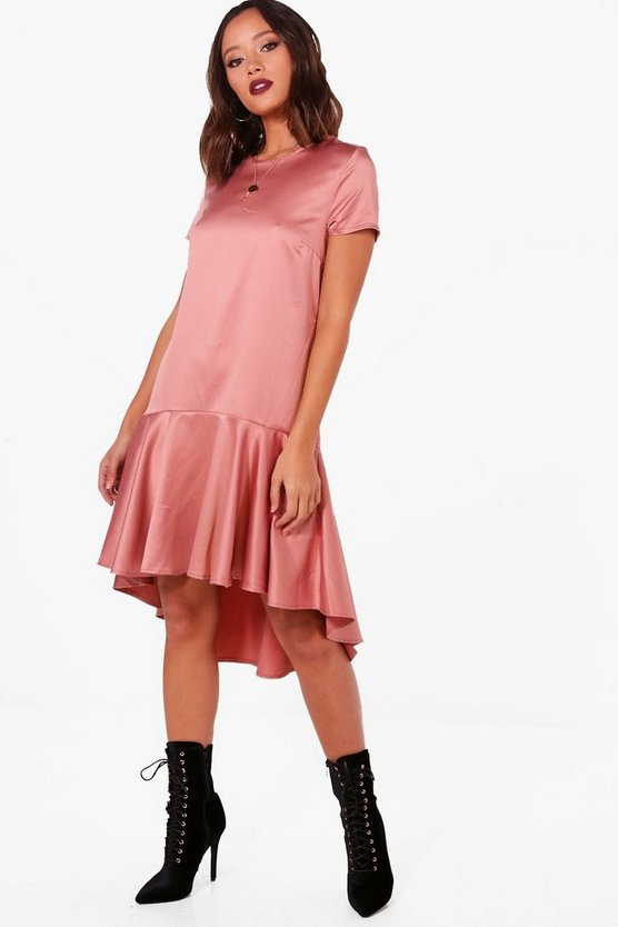 Drop Hem Oversized Smock Dress