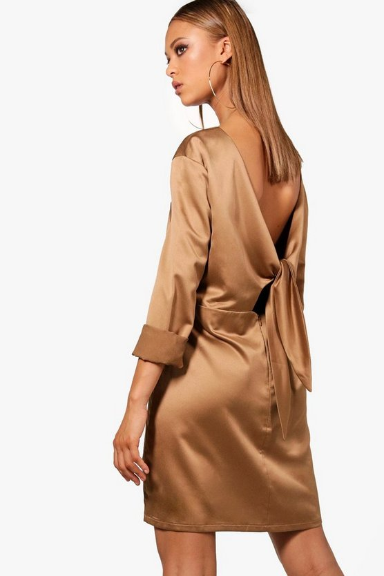 Harper Oversized Tie Back Shift Dress