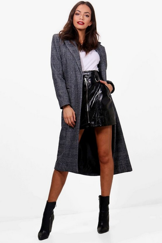 Josie Tailored Check Coat