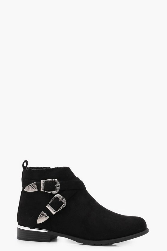 Isabella Buckle Strap Chelsea Boot