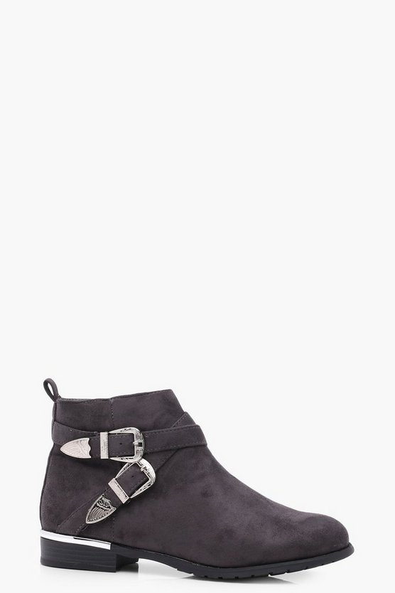 Grace Buckle Strap Chelsea Boot