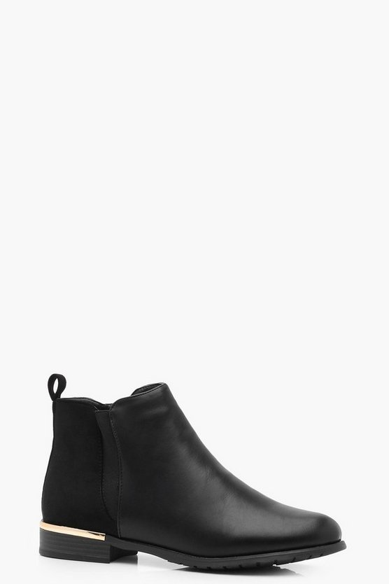 Ruby Metal Trim Chelsea Boot